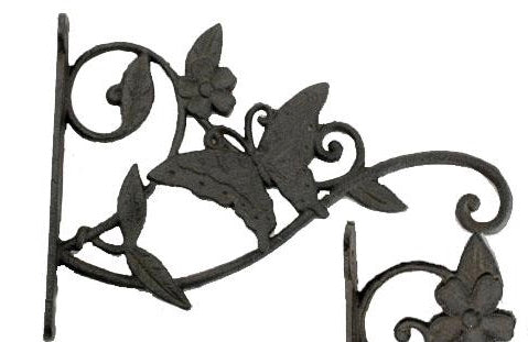 Decorative Cast Iron Butterfly Plant Hanger.  Garden Decor.