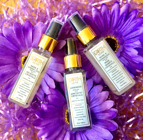 Collection of 3 Fragrances of Earth Lux Room Spray.