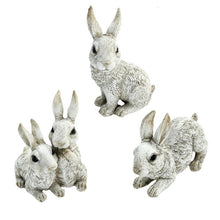Charger l'image dans la galerie, Collection Of Three Different Bunny Figurines For Home Decor.