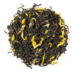 Loose Leaf Monks Blent Tea with calendula petals.