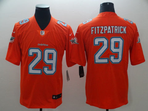 Men's Miami Dolphins Minkah Fitzpatrick Nike Orange Vapor Limited Jersey