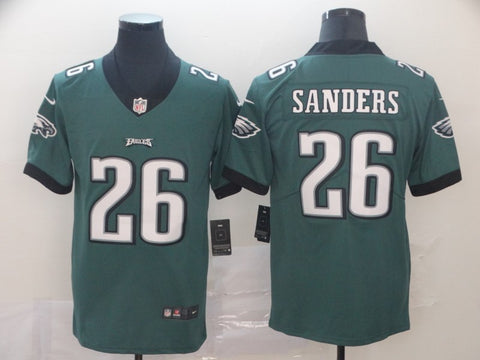 Men's Philadelphia Eagles Miles Sanders Nike Midnight Green Game Player Jersey