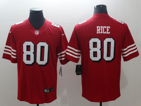 Men's San Francisco 49ers Jerry Rice Mitchell & Ness Scarlet Legacy Replica Jersey