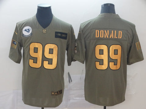 Men's Los Angeles Rams Aaron Donald Nike Bone Vapor Limited Jersey