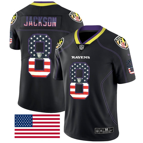 Men's Baltimore Ravens Lamar Jackson Nike Game Player Jersey