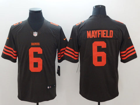 Men's Cleveland Browns Nike Baker Mayfield Brown Player Legend Jersey