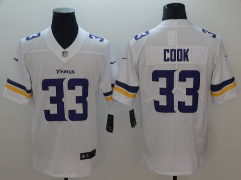 Men's Minnesota Vikings Dalvin Cook Nike White Player Game Jersey