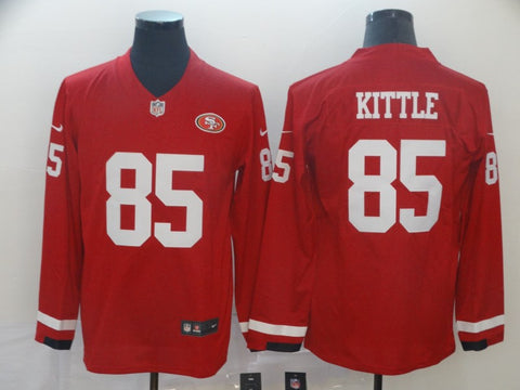 Men's San Francisco 49ers George Kittle Nike Scarlet Game Player Jersey