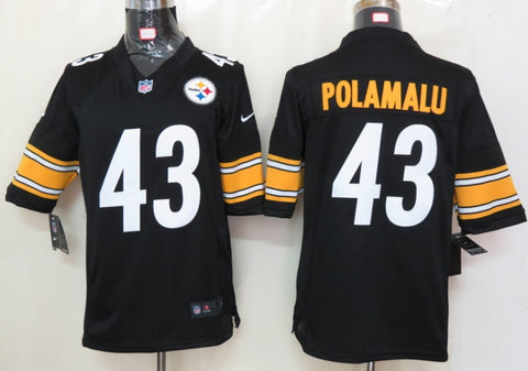 Men's Pittsburgh Steelers Troy Polamalu Nike Black Retired Player Limited Alternate Jersey