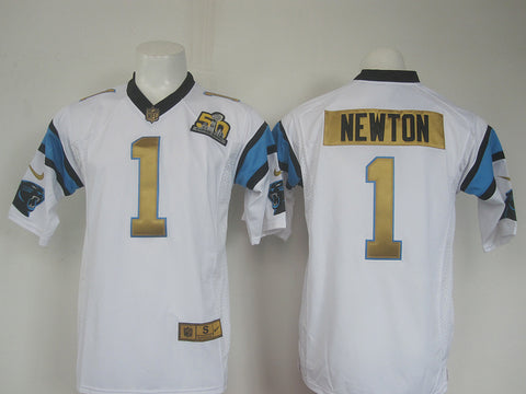 Men's New England Patriots Cam Newton Nike White Game Jersey