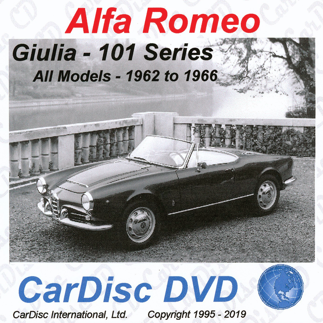 Giulia 101 Series Models from 1962 to 1966