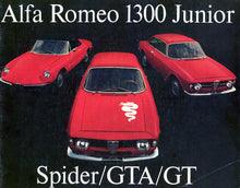 Load image into Gallery viewer, GT Junior 1300 and 1600 Models from 1966 to 1975