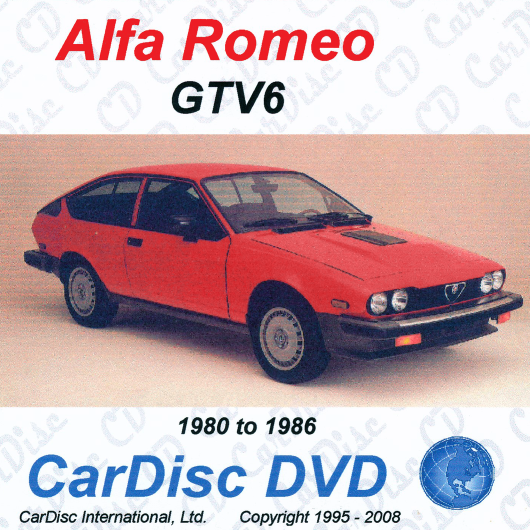 Alfa GTV-6 Models from 1980 to 1986