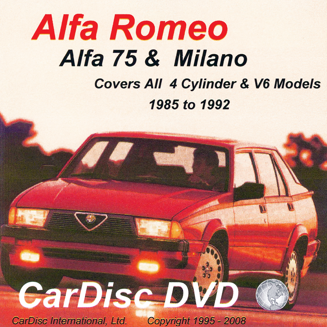 Alfa 75 and Milano Models from 1985 to 1992