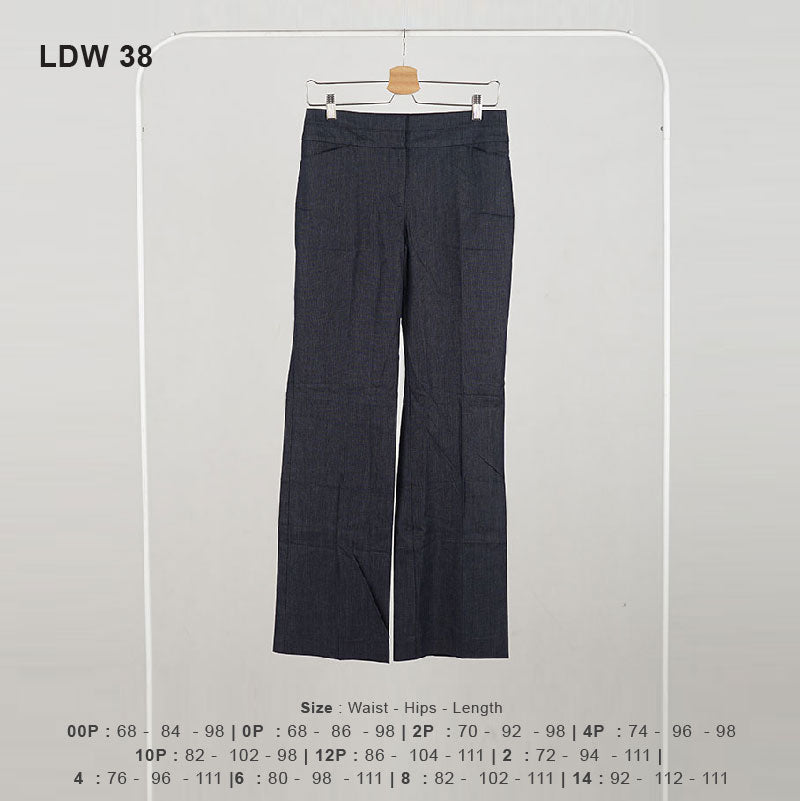 Celana Panjang Wanita - Women Denim Curvy Chambray Wide 109 (LDW 38)