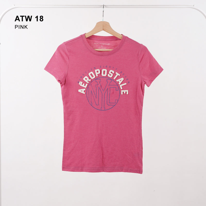 Kaos Wanita - AERO Nyc Circle Graphic Tee (ATW 18)