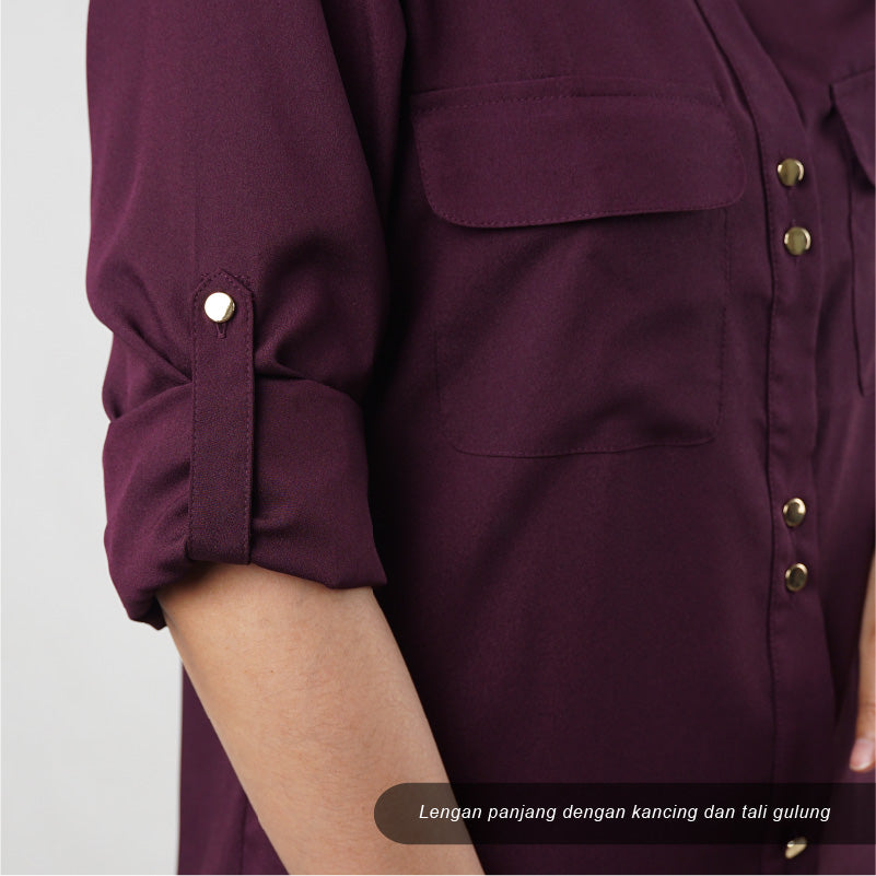 Kemeja wanita - Double pocket long sleeve (CG-IVT 07)