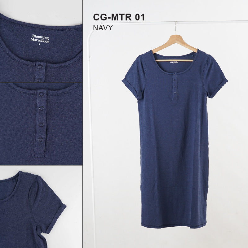 Dress Wanita Hamil - Nursing Maternity Night Dress Cotton (CG-MTR 01)