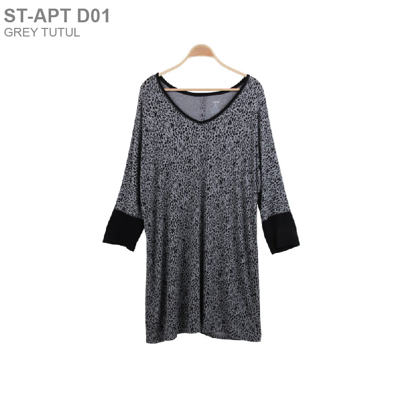 Dress Wanita - Dress Branded Short Sleeve (ST-APT D01)