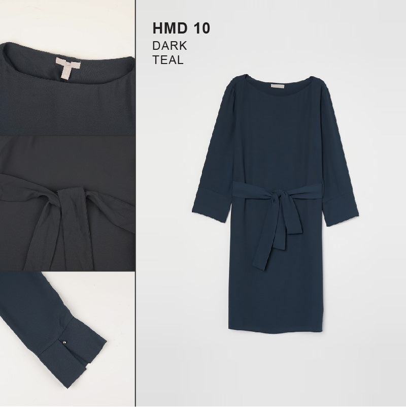 Dress Wanita - Tie Belt Dress (HMD 10)