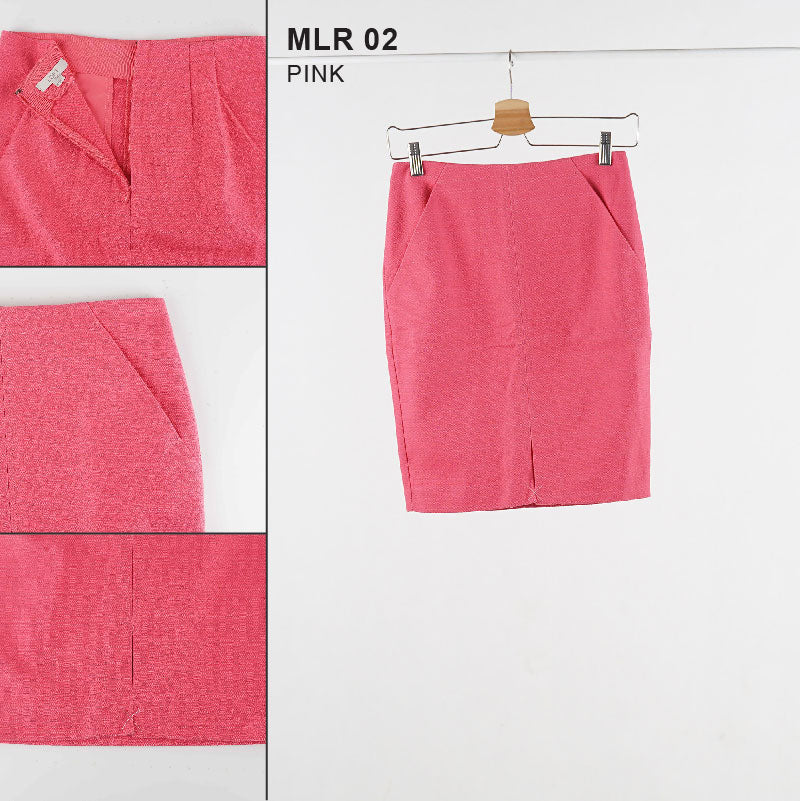 Rok Wanita - Black and Pink Women Skirt (MAR 02-MLR 02)