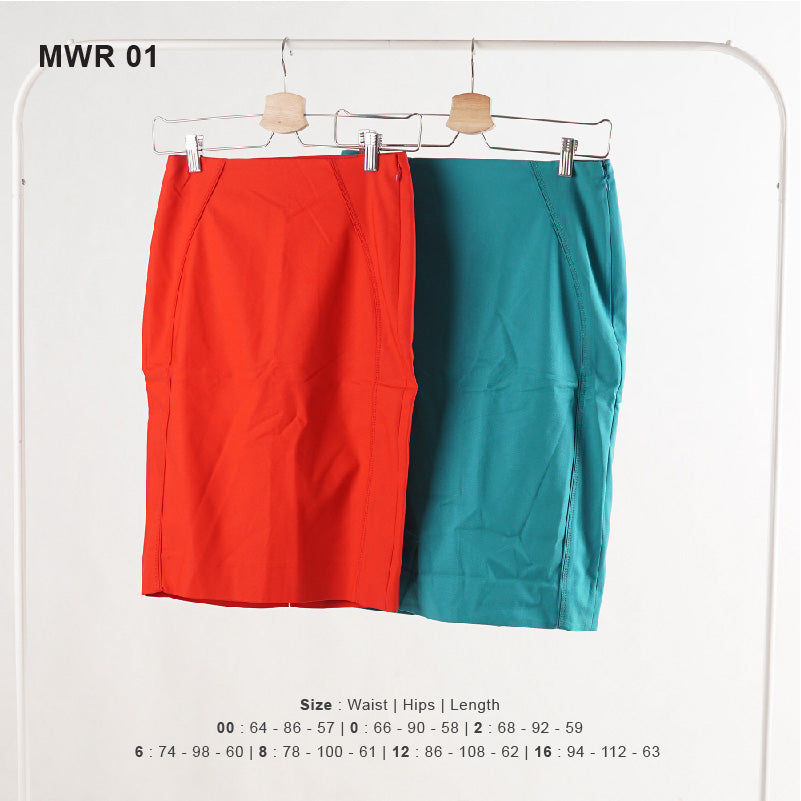 Rok Wanita - Red And Tosca Women Skirt (MWR 01)