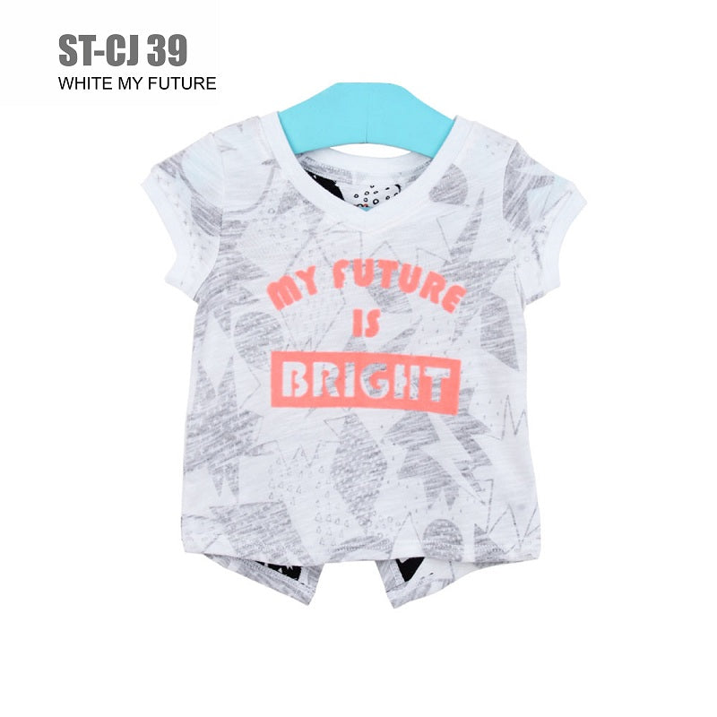 Kaos Anak Perempuan - Girls T-shirt  Short Sleeve (ST-CJ 39)