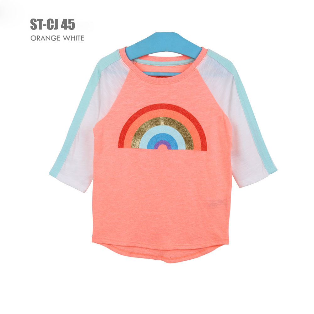 Kaos Anak Perempuan - Girls T-shirt Branded Quarter Sleeve (ST-CJ 45)