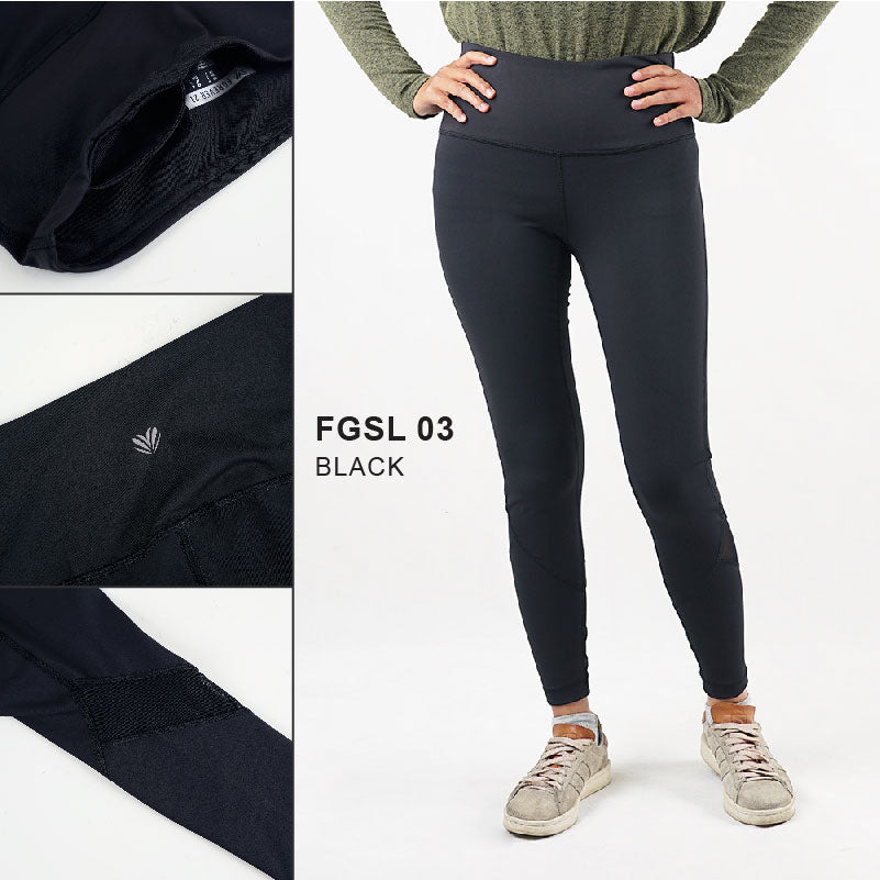 Legging sport wanita -Legging sport with mesh bottom (FGSL 03)
