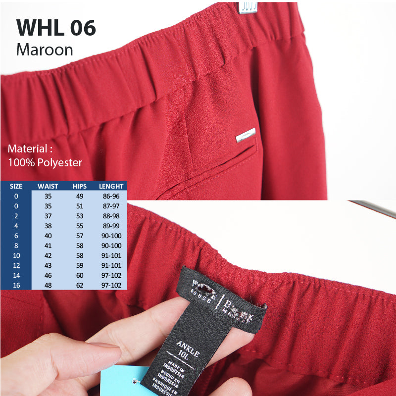 Celana Panjang Wanita - Soft tappered ankle pants (WHL 06)