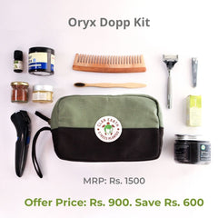 Father's Day Unique Gift 2021 - Canvas Dopp Toiletry Shaving Kit Bag  - Eco Friendly & Sustainable