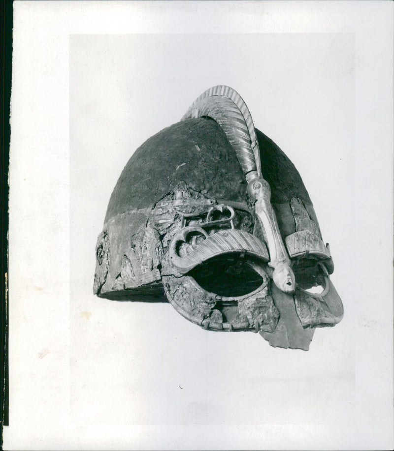 A helmet at The Swedish History Museum - Reprint