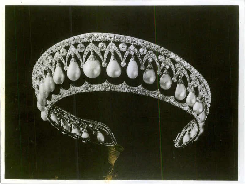 One of the diamond diadems that are part of the Russian crown jewels. - Reprint