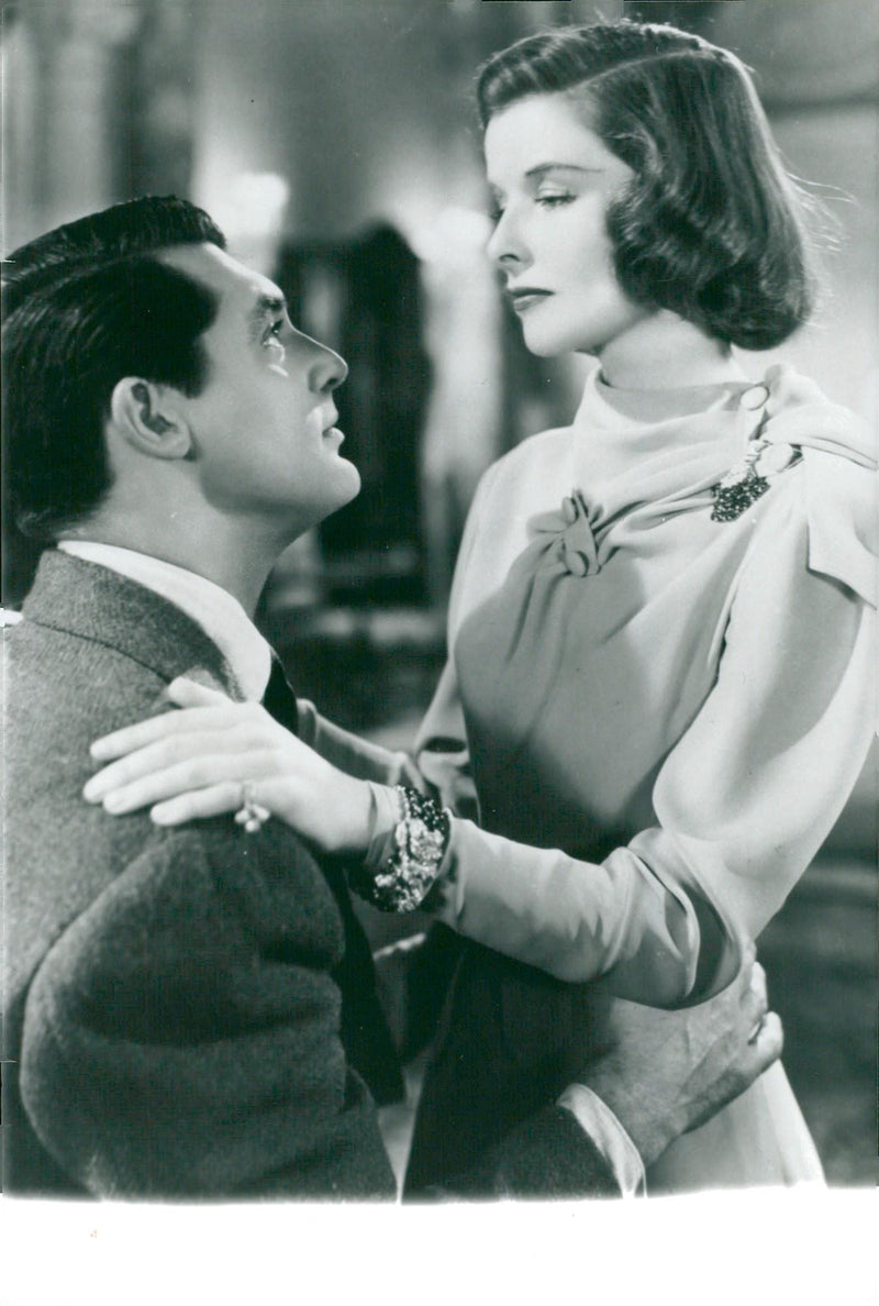 "Katharine Hepburn along with Cary Grant in the movie ""A Freer in Society"". - Year 1938 - Reprint"