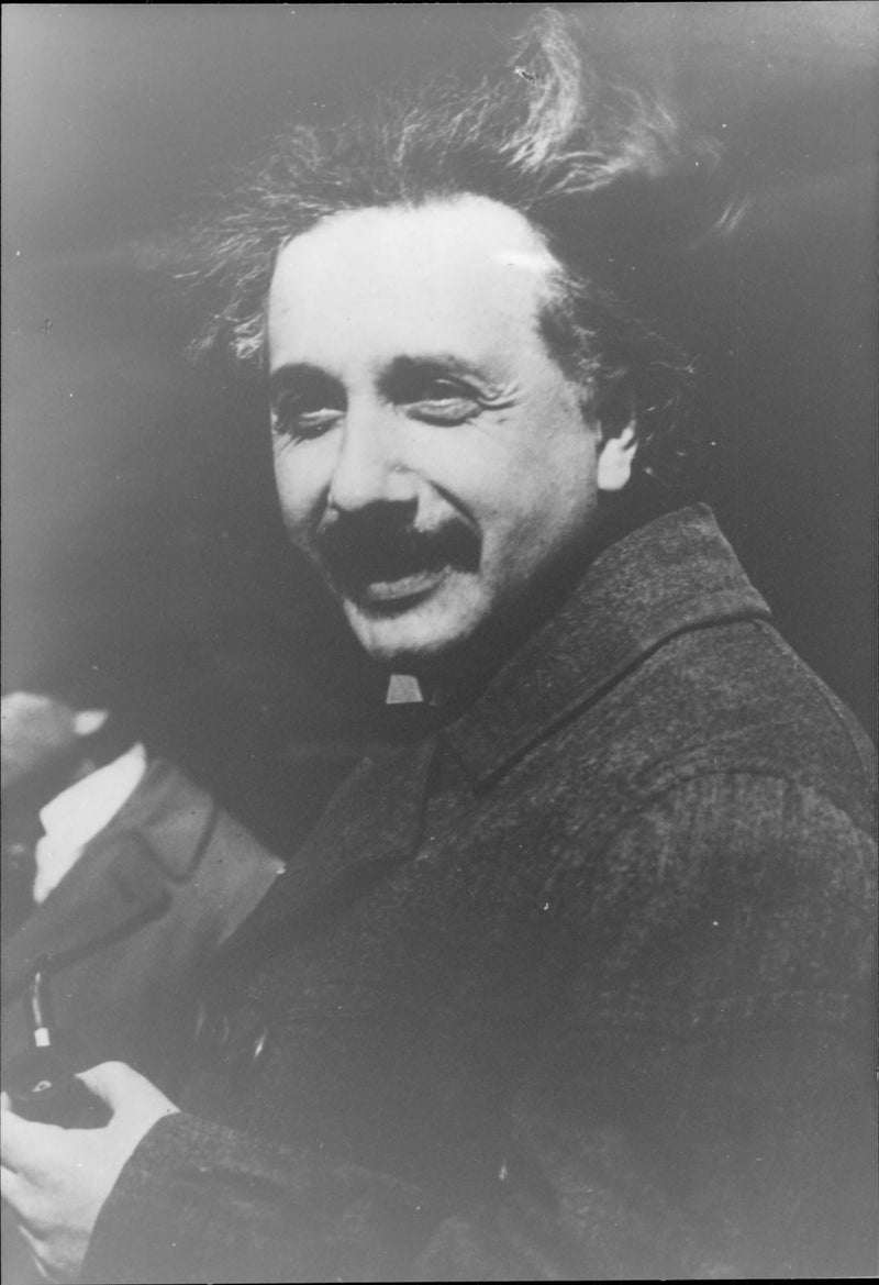 Portrait image of Albert Einstein taken in an unknown context. - Reprint