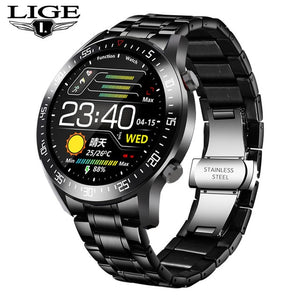 Lige 2020 New Steel Band Digital Watch Men Sport Watches Electronic Le Watchyacht