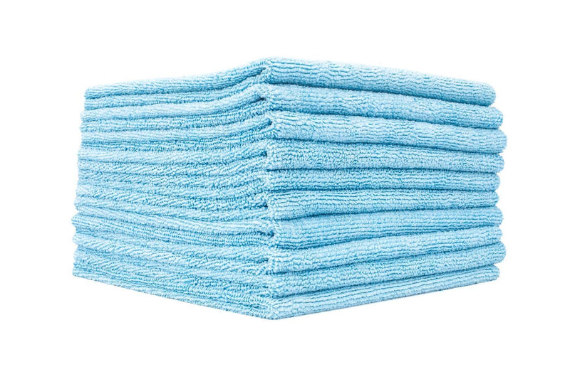 Plush Microfibre Towels Blue - Edgeless
