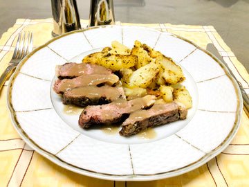 BBQ'd Rump Steak With Pan Fried Potatoes (GF) (DF)