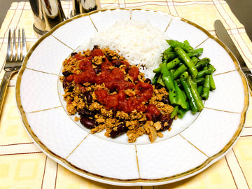 Beef Chili Con Carne With Rice & Green Beans (GF) (DF)