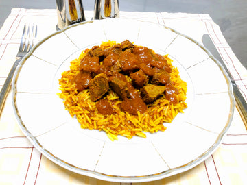 Mild Beef Curry With Curried Rice (GF) (DF)