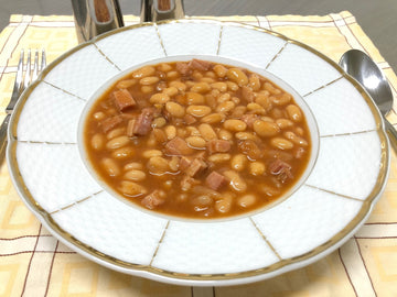 Home Style Baked Beans with Smoked Ham (GF) (DF)