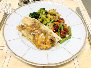 Oven Baked Basa Fillet with Stir Fry Vegetables (GF) (DF)
