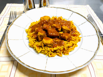 Mild Chicken Curry With Curried Rice (GF) (DF)