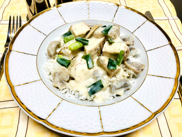 Creamy Chicken & Mushroom Risotto With Rice (GF)