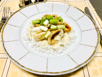 Oven Baked Calamari with Rice (GF)