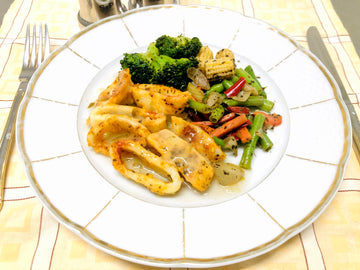 Oven Baked Calamari with Stir Fry Vegetables (GF) (DF)