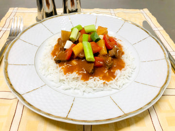 Sweet & Sour Lamb With Rice (GF) (DF)