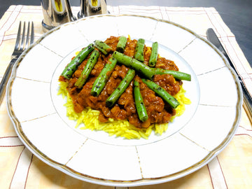 Mild Lentil Curry With Curried Rice & Green Beans (GF) (DF)