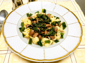 Borlotti Beans Pasta with Spinach & Spring Onions (DF)
