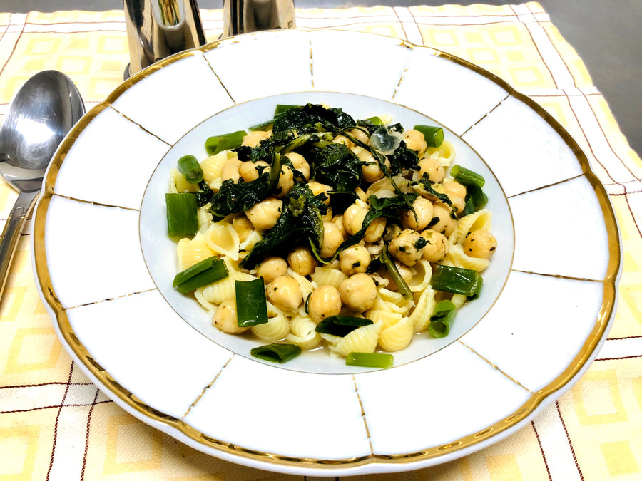 Chickpea Pasta with Spinach & Spring Onion (DF)